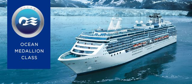 Ocean Medallion class - Island Princess sailing in Alaska