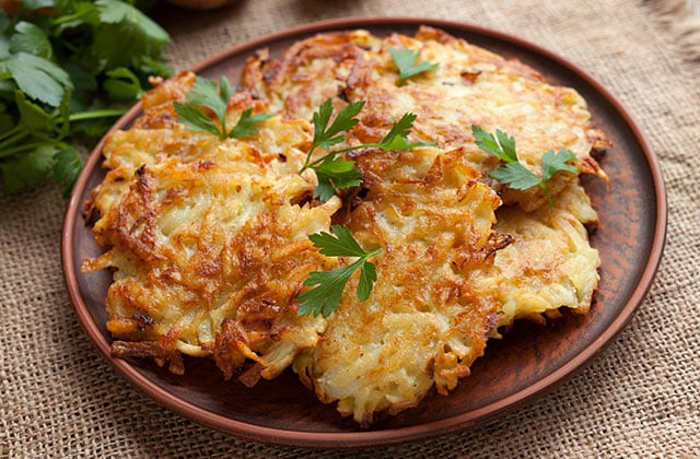 Latkes made for the Hanukkah holiday