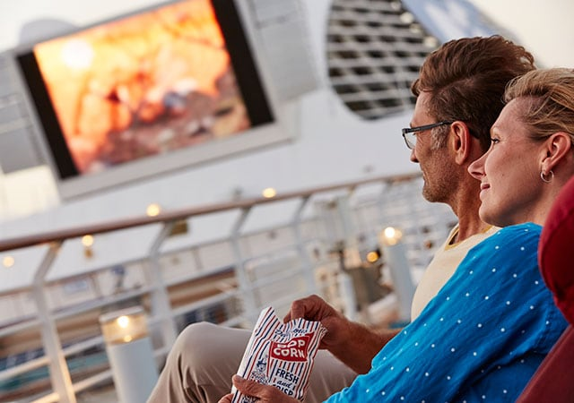 Onboard entertainment includes Movies Under the Stars