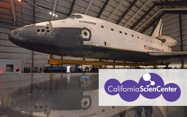 Endeavour space shuttle at the California Science Center