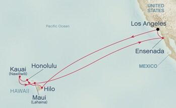 Golden Princess Hawaii Cruise Route Cruise Critic