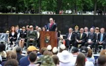 Princess Cruises President and CEO Alan Buckelew speaks at the Vietnam Veterans Memorial Wall
