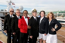 The Love Boat cast reunite aboard Pacific Princess in the Port of Los Angeles