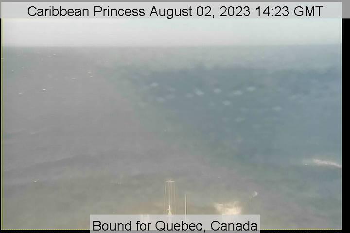 webcam du bateau Caribbean Princess vue avant