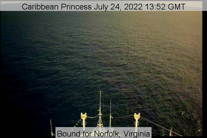 Caribbean Princess Webcam Visuale di prua