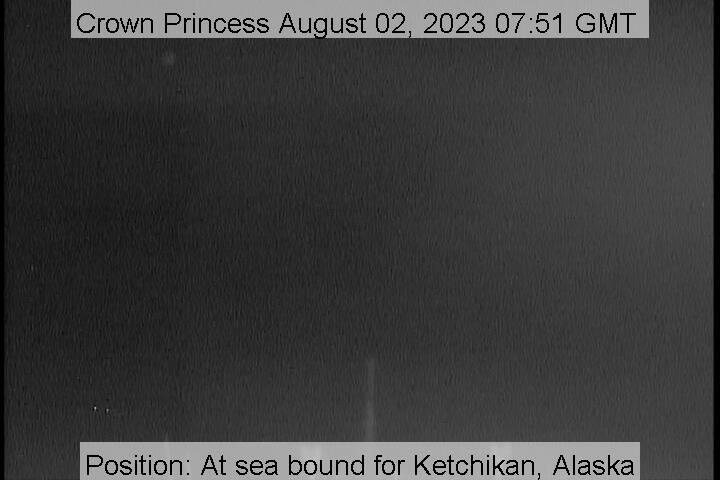 webcam du bateau Crown Princess vue avant