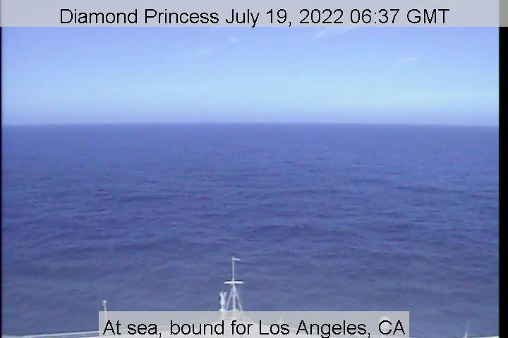 webcam du bateau Diamond Princess vue avant