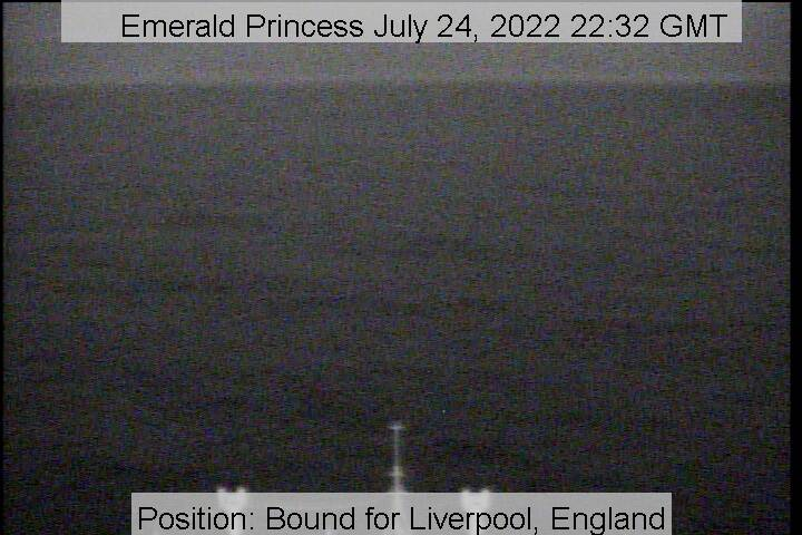 webcam du bateau Emerald Princess vue avant