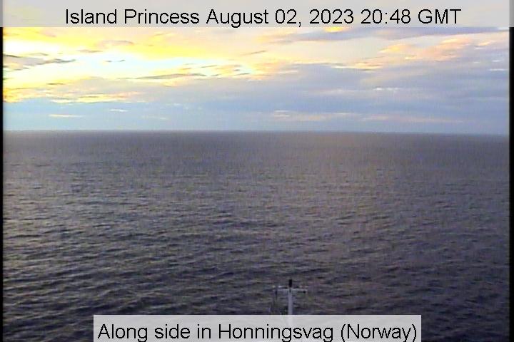 webcam du bateau Island Princess vue avant