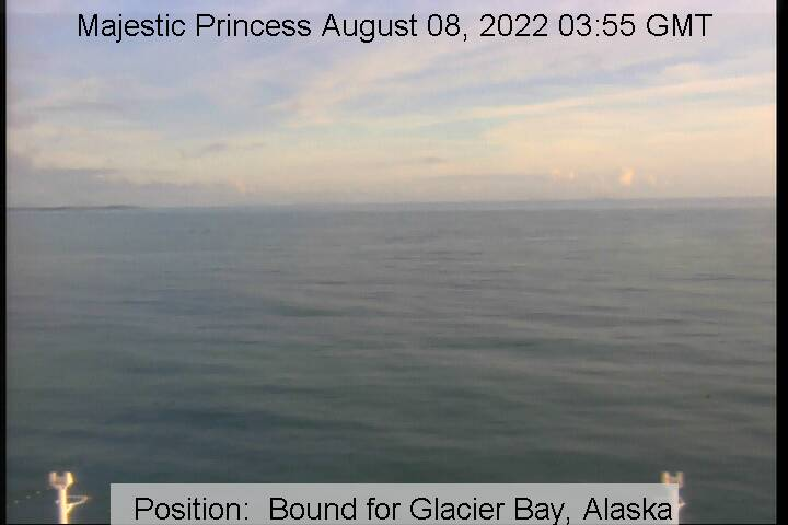 webcam du bateau Majestic Princess vue avant
