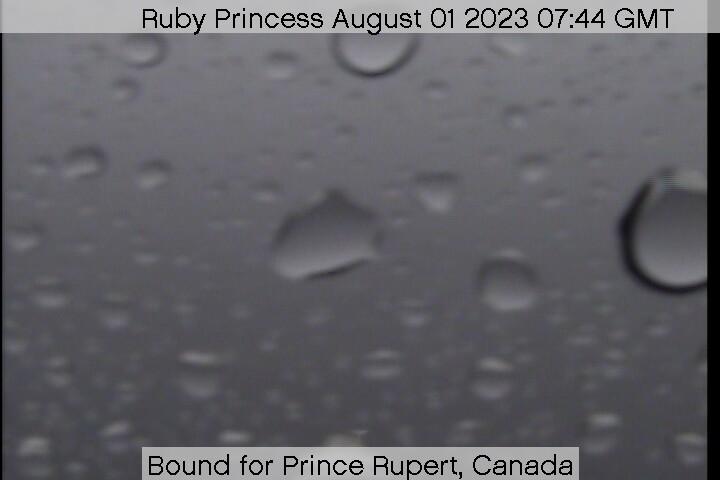 webcam du bateau Ruby Princess vue avant